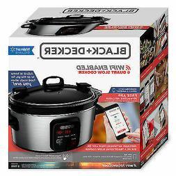 Crockpot WIFI  Enabled Slow Cooker 6-Quart Programmable Kitc