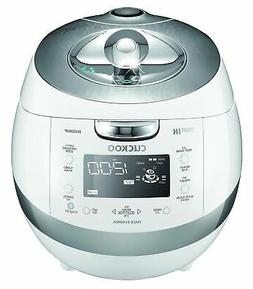 Cuckoo CRP-BHSS0609F 6 Cup Pressure Rice Cooker, 110V, White