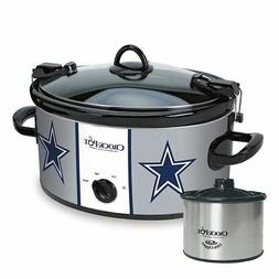 Crock-Pot Dallas Cowboys NFL Cook & Carry Slow Cooker with B