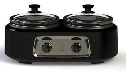 Deluxe Dual Countertop Slow Cooker 2.5 quart