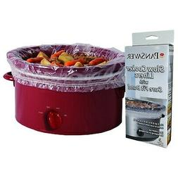 Stews PanSaver 100 Count EZ Clean Slow Cooker Liners and Cooking Bags Perfect For Cholent Fish and Soups 3 to 6 Quart or 9x13 inch Oven Trays NSF approved FDA certified KOFK Certified Kosher