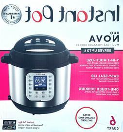 Instant Pot Duo Nova 7-in-1 Programmable Pressure Cooker - 6