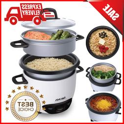Electric Multi Pot Rice Cooker Food Steamer 6 Cup One-Touch