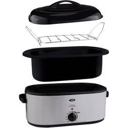 Electric Roaster Oven 22-Quart Capacity Versatile Slow Cooke