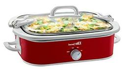 Elite Gourmet MST-5240 Casserole Slow Cooker, Locking Lid, A