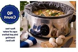 Extra Large Slow Cooker Liners Fits Up To 7-8 Quart Crock Po