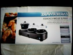 Faberware - Triple Slow Cooker with Individual Temperature S