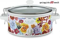 Pioneer Woman Flea Market Portable Slow Cooker 6 Quart