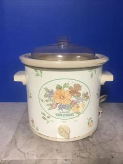 Rival Floral Crock Pot Slow Cooker 3150/2  3.5 Quart / 135 -