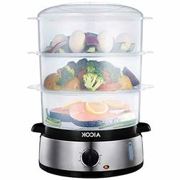 Food Steamer 9.5 Quart Vegetable Steamer with BPA-Free 3 Tie