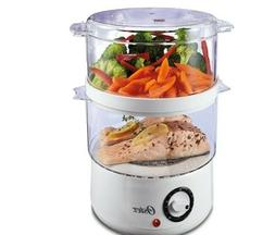 Food Steamer,Double-Tiered,5-Quart Capacity,400W,White