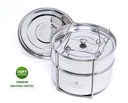 ecozoi Premium Extra DEEP Stackable Steamer Insert Pans Pot