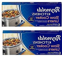 Reynolds Kitchens gaWpHZ Slow Cooker Liners, regular Size, 6