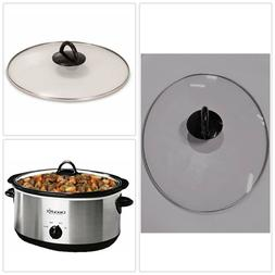 GLASS OVAL LID CROCK POT 64451LD-C -NP Rival Replacement Top