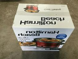Hamilton Beach Good Thinking Red Crockpot Delicious Meals Lr
