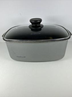 West Bend Gray/Silver Versatility Slow Cooker 5-Quart With L