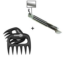 Grill Tongs + Pulled Pork Shredder Claws - STRONGEST BBQ MEA