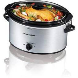 Hamilton Beach 5-Quart Portable Slow Cooker, Silver