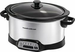 hamilton beach 6 quart slow cooker stainless