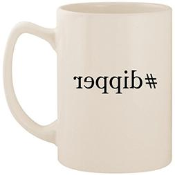 #dipper - White Hashtag 14oz Ceramic Statesman Coffee Mug Cu