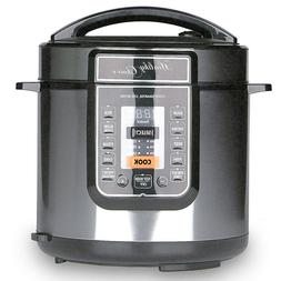 Healthy Choice 6L Pressure/Slow Cooker 1000W LED Display/Tim