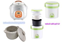HNDTEK COMBO SET 1.5 Cup Rice Cooker And Mini Slow Cooker Di