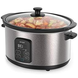 hOmeLabs 6 Quart Slow Cooker Pot - Digital Programmable Slow