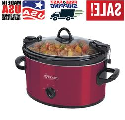 HOT Crock-Pot 6-Quart Cook & Carry Oval Manual Portable Slow