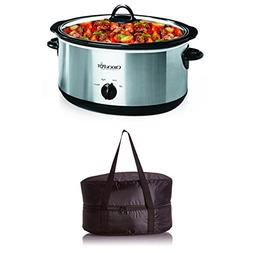 Bundle Includes 2 Items - Crock-Pot 7-Quart Oval Manual Slow