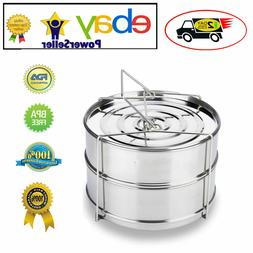 Instant Pot Accessories 8 quart Stackable Stainless Steel St