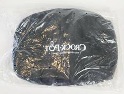 Insulated Crock-Pot 4-7 Quart Oval-Shaped Slow Cooker Black