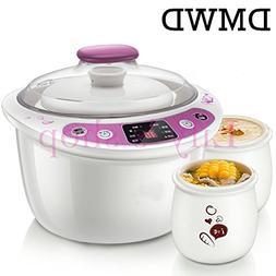 DMWD Intelligent Slow Cookers Electric timing Food Steamer 3