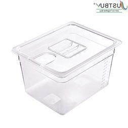 JUSTBUY Sous Vide Container with Lid 11L Water Tank Bath for