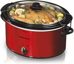Hamilton Beach Kitchen, 6 Quart Red Slow Cooker, Crock Pot H