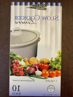 Kitchen Collection Crock Pot Liner Slow Cooker - 5-6 Quart -