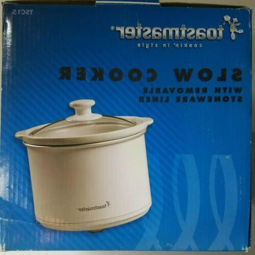 1.5 QUART CAPACITY TOASTMASTER ELECTRIC SLOW COOKER WITH STO