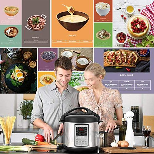 COSORI Electric Cooker Instant Stainless 17-Program Sauté, Maker Warmer, Extra Glass 2-Year Warranty,