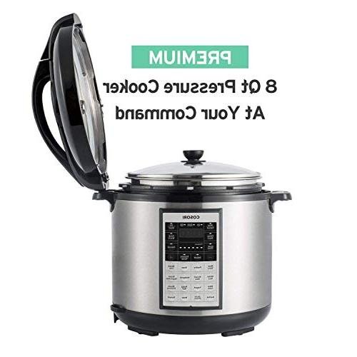 COSORI 8-in-1 Electric Pressure Cooker with Instant Stainless Steel 17-Program Sauté, Yogurt Maker 2-Year Warranty, 8