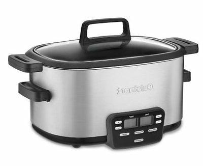 Cuisinart 3 In 1 Multicooker Slow Cooker Brown Saute Steamer