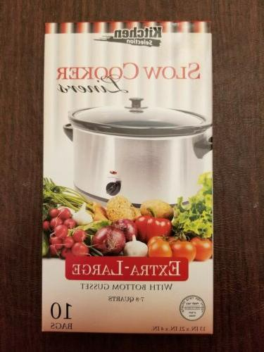 10 clear crock pot slow cooker liners