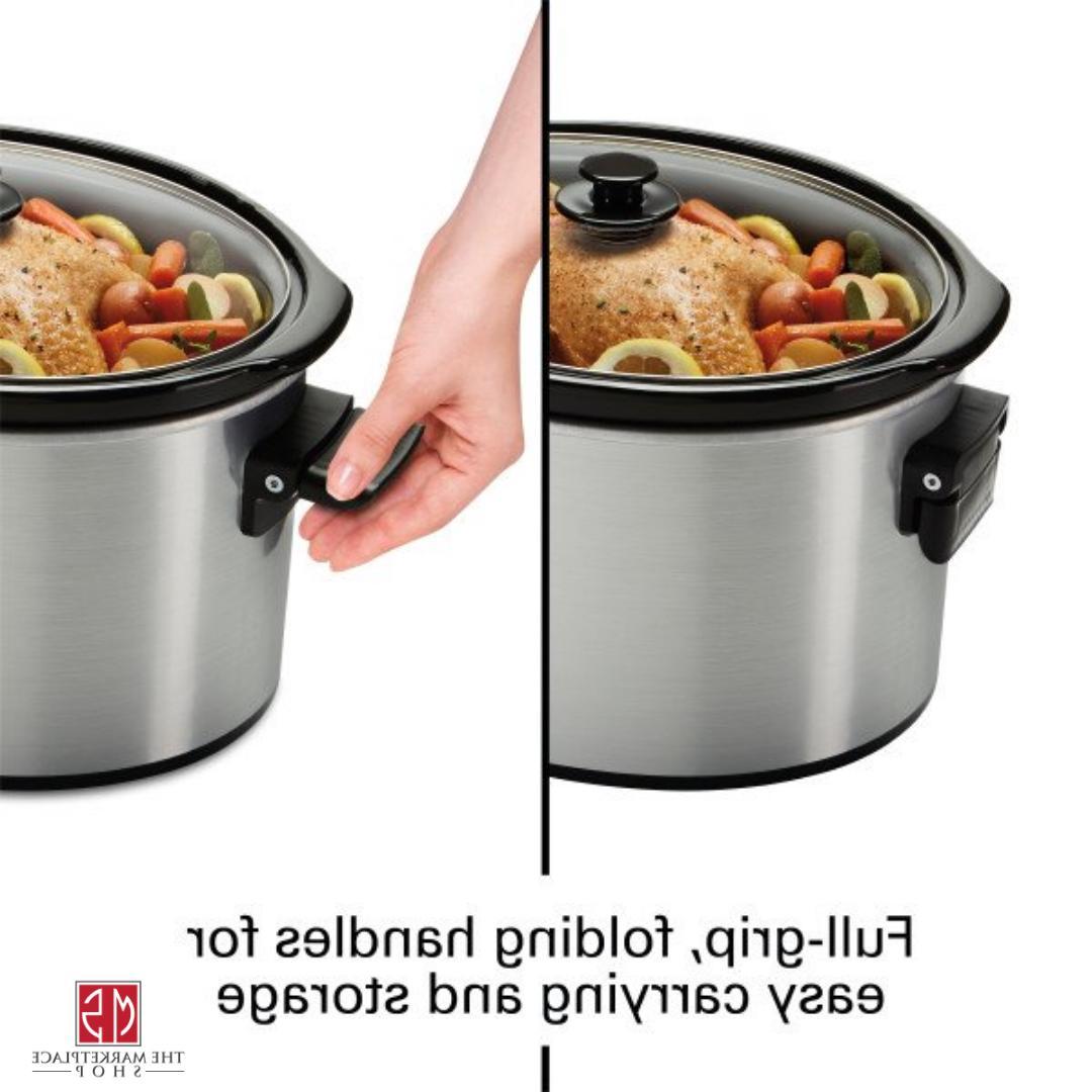 10 Quart Large Slow Cooker Stoneware Kitchen Appliance