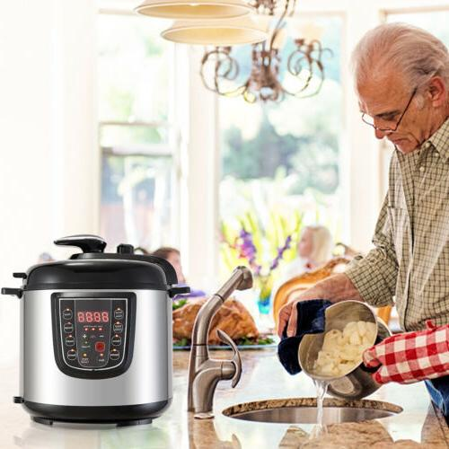 1000W 6-Quart 9-in-1 Multi-Functional Timer Slow Cook