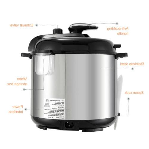 1000W 6-Quart 9-in-1 Slow Cook