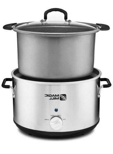 10qt Pot Slow Cooker Big 9quart 10 Quart Huge
