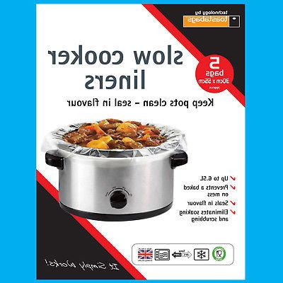 5x slow cooker liners transparent no mess