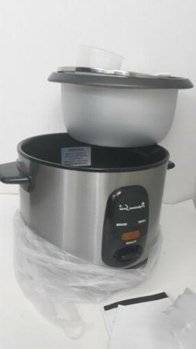 Continental Electric 12 Rice Cooker, Stainless Steel PS75068