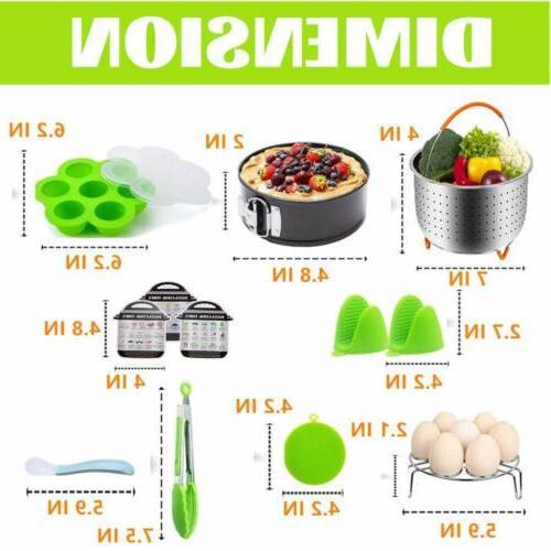 12 pieces Accessories Set Fits 3 qt 3 Cooker W/Steamer