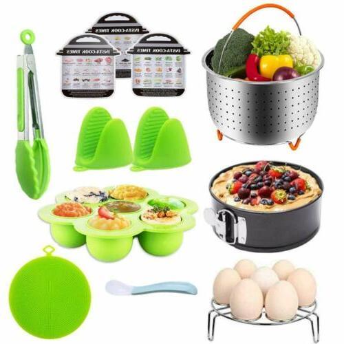 12 pieces Instant Accessories Set qt W/Steamer Basket