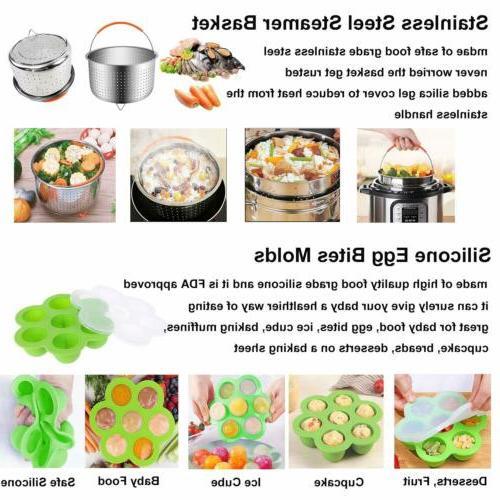 12 Pot Fit 6 qt Quart Cooker Accessories Set w/Steamer