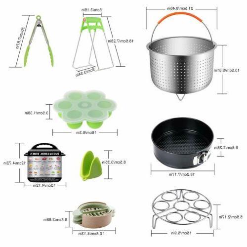 12 Accessories Set Fits qt 8 W/Steamer Basket